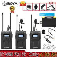 BOYA BY-WM8 Pro K1/K2 Mic Kondensator Wireless Mic Mikrofon System Audio Video Recorder Empfänger für Canon Nikon Sony kamera