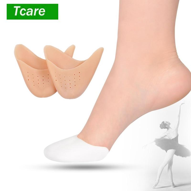 1 Paar Kappe Hülse Mittelfuß Pads-silikon Gel Toe Caps Weiche Ballett Pointe Tanz Sportler Schuh Pads Für Männer Und Frauen Fuß Pflege
