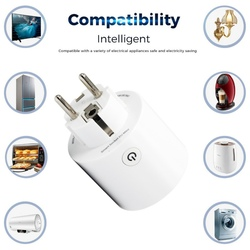 WiFi Connected Smart WiFi Socket Works with for Voice Control Remote Control Timer Function Wi-Fi Mini Outlets