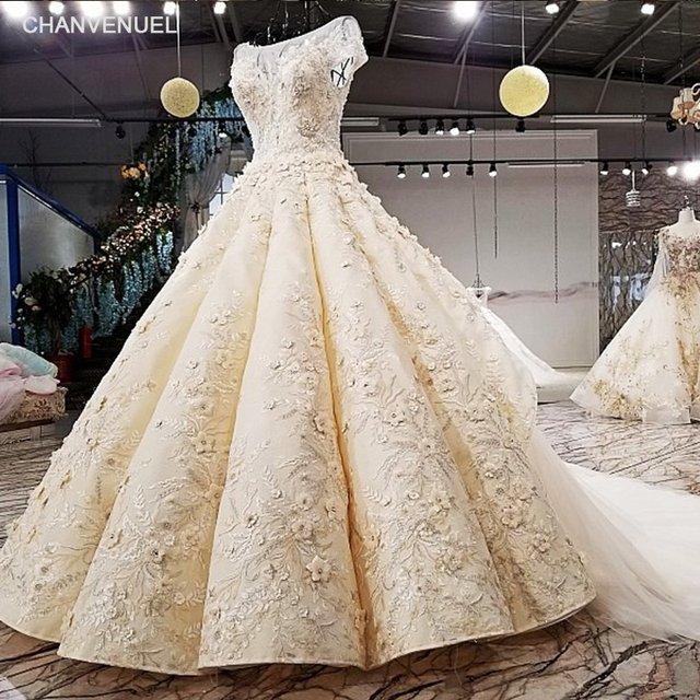 ff57032d66d5 LS64511 cap sleeves wedding dress appliques champagne lace latest decent  keyhole back ball gown wedding dresses bridal gown 2018