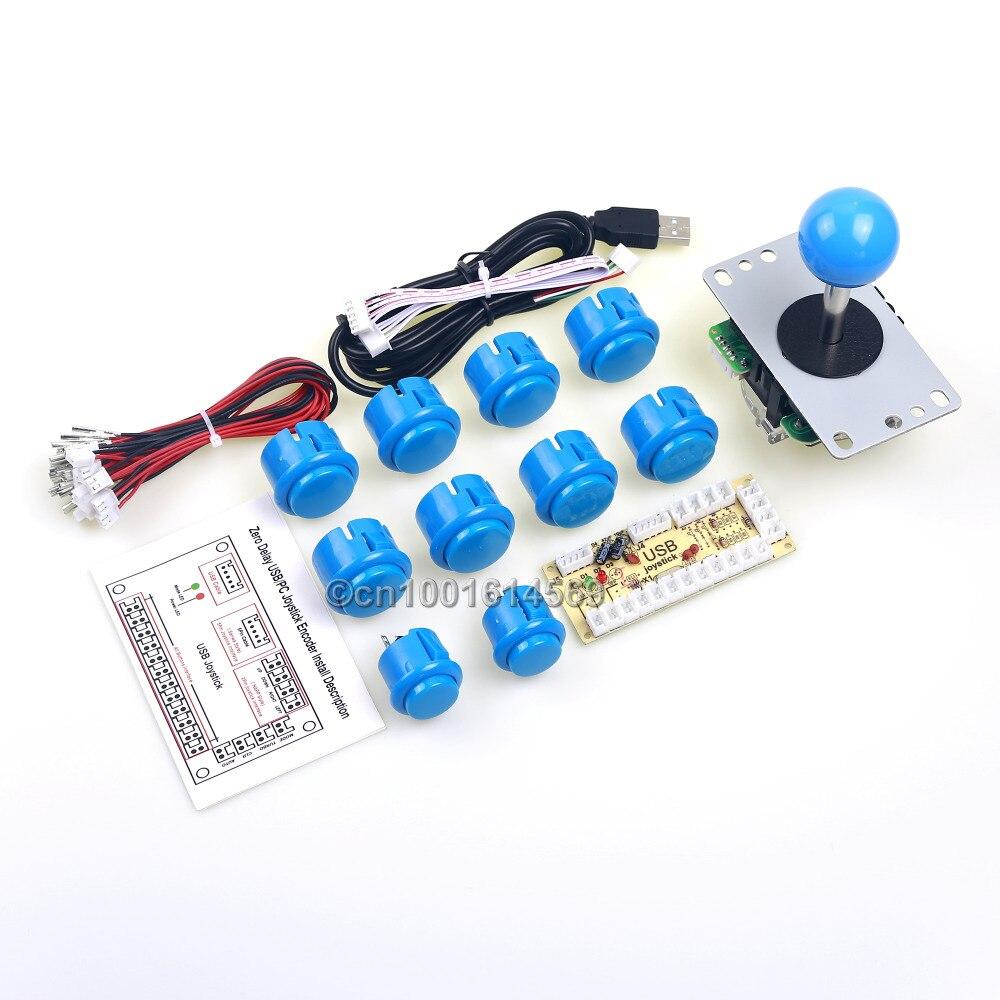 Аркады Панель управления Китая Sawna джойстик + 10 x нажмите кнопку + для USB Энкодера доска для малины Pi модель B Retropie 3 DIY проект