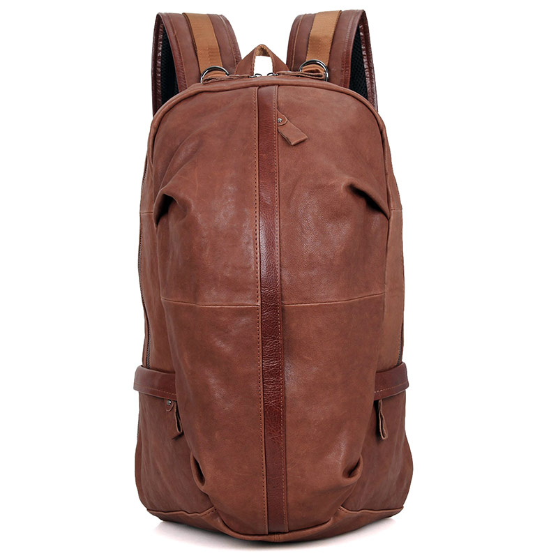 New Arrival JMD Men Genuine Cowhide Imported Leather Backpack Schoolbag Travel Bag 7340B