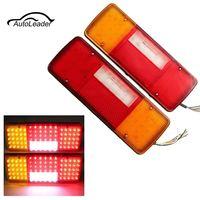 2PCS 12V 92LEDS Truck Trailer Light LED Tail Lamp Yacht Car Trailer Taillight Reversing Running Brake