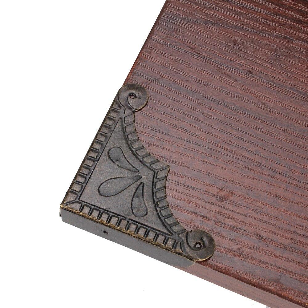20pcs Vintage Bronze Corner Protector Elegant Shape Desk Edge Cover 56x12.5mm