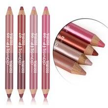 1 шт., двойной цвет, водонепроницаемый матовый блеск для губ, помада, стойкая помада для губ, карандаш, инструменты для макияжа, 4 цвета