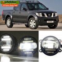 EEMRKE Car Styling for Nissan Navara D40 2004 2015 2 in 1 Double LED DRL Cut line Lens Fog Lights Daytime Running Lights