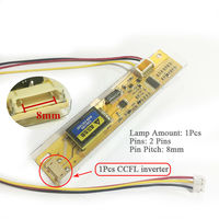 1 Pcs CCFL Inverter Lamp Wide Mouth Big Port High Pressure Plate For LCD 8mm Pin