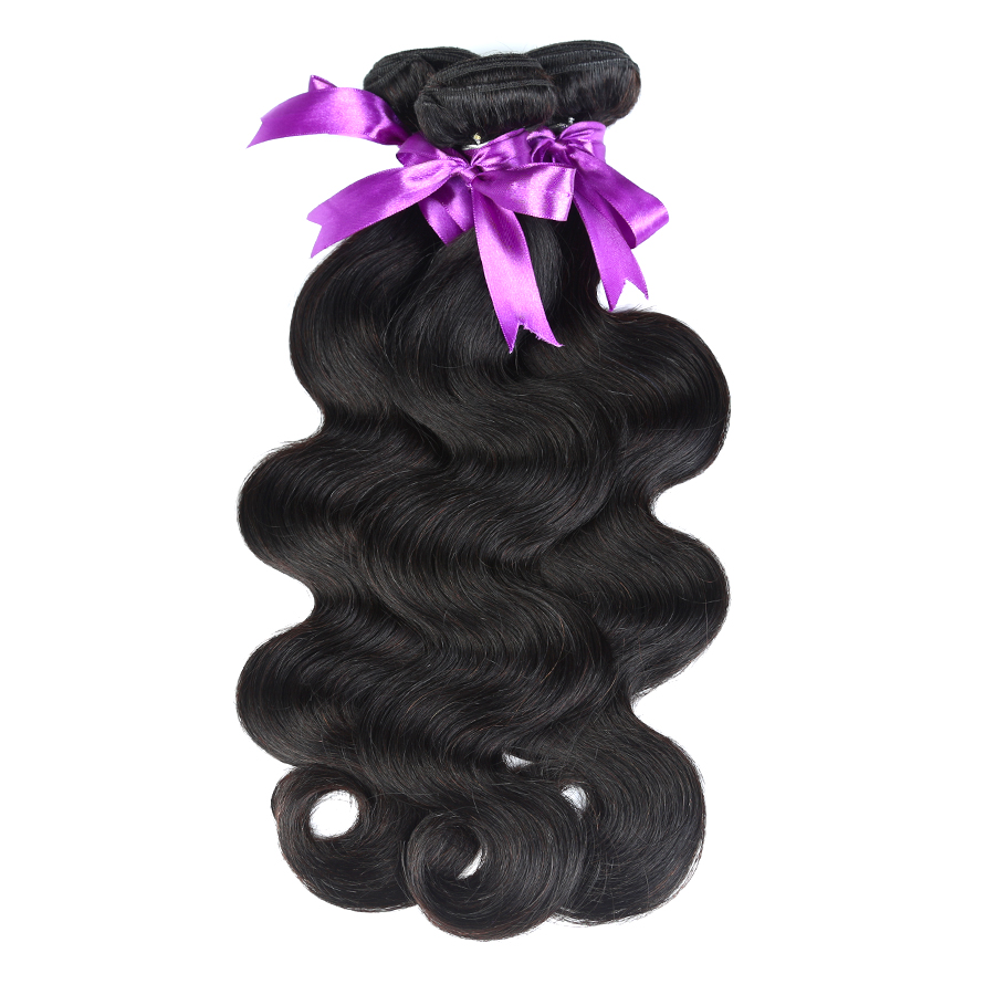 AliBarbara Malaysian Body Wave Hair 4Bundles Human Hair Weaves Natural Black 1B# Cheap Non Remy Hair Extension Free Shipping