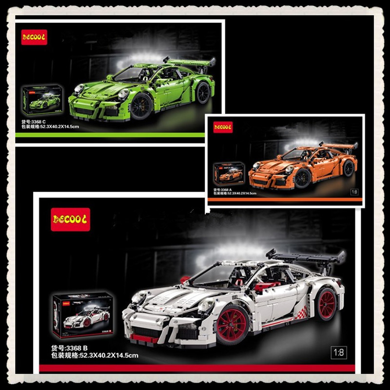 IN STOCK NEW 2726PCS DECOOL 3368 Technic Series 911 GT3 RS Model Building Kits Minifigures Blocks