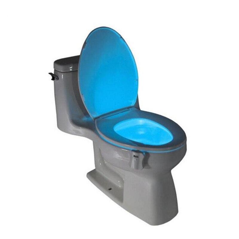 8 цветов привело Туалет ночь свет движения Активированный Туалет Беспроводной Ночная чувствительной 3A Батарея управлением лампы Lamparas Лампы для мотоциклов