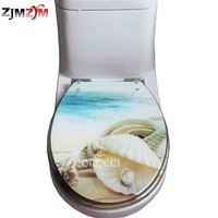 Resin Toilet Cover U V O Universal Sit Cover Stainless Steel Slow Down Mute Thickened Sea