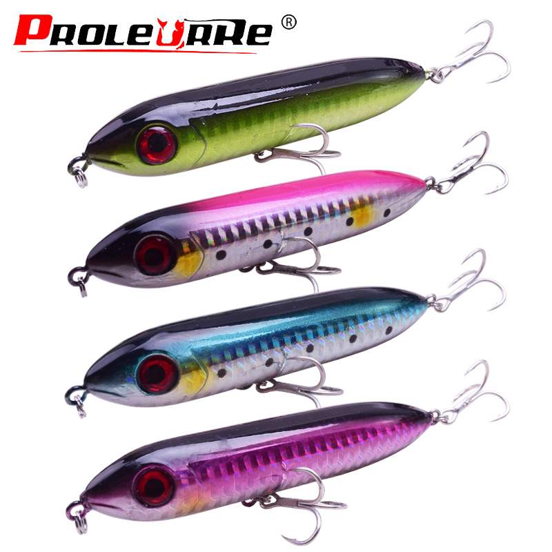 1Pcs Long Casting Floating Bass Lure 14g//9.5cm Hard Bait Topwater Lure Baits