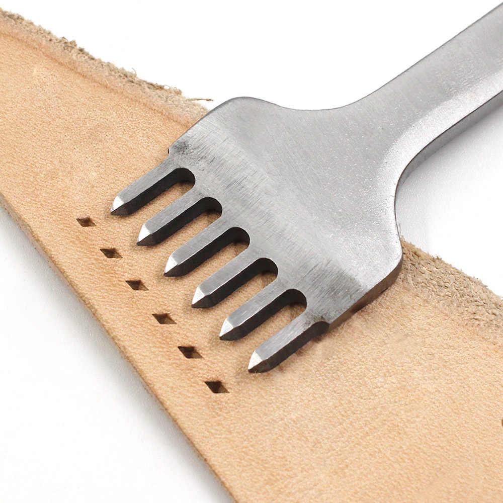 3/4/5/6 ミリメートル間隔パンチツールレザー穴パンチツールひもステッチ縫製 DIY レザークラフトツール 1/2/4/6 プロング
