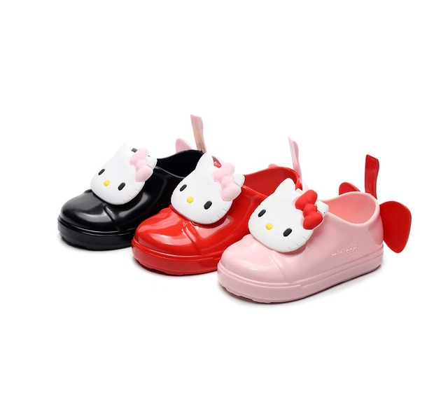 Mini Melissa 2019 New Hello Kitty Jelly Shoes Girls Jelly Sandals Children Sandals Girls Bow Beach Waterproof Melissa Shoes-in Sandals from Mother ...