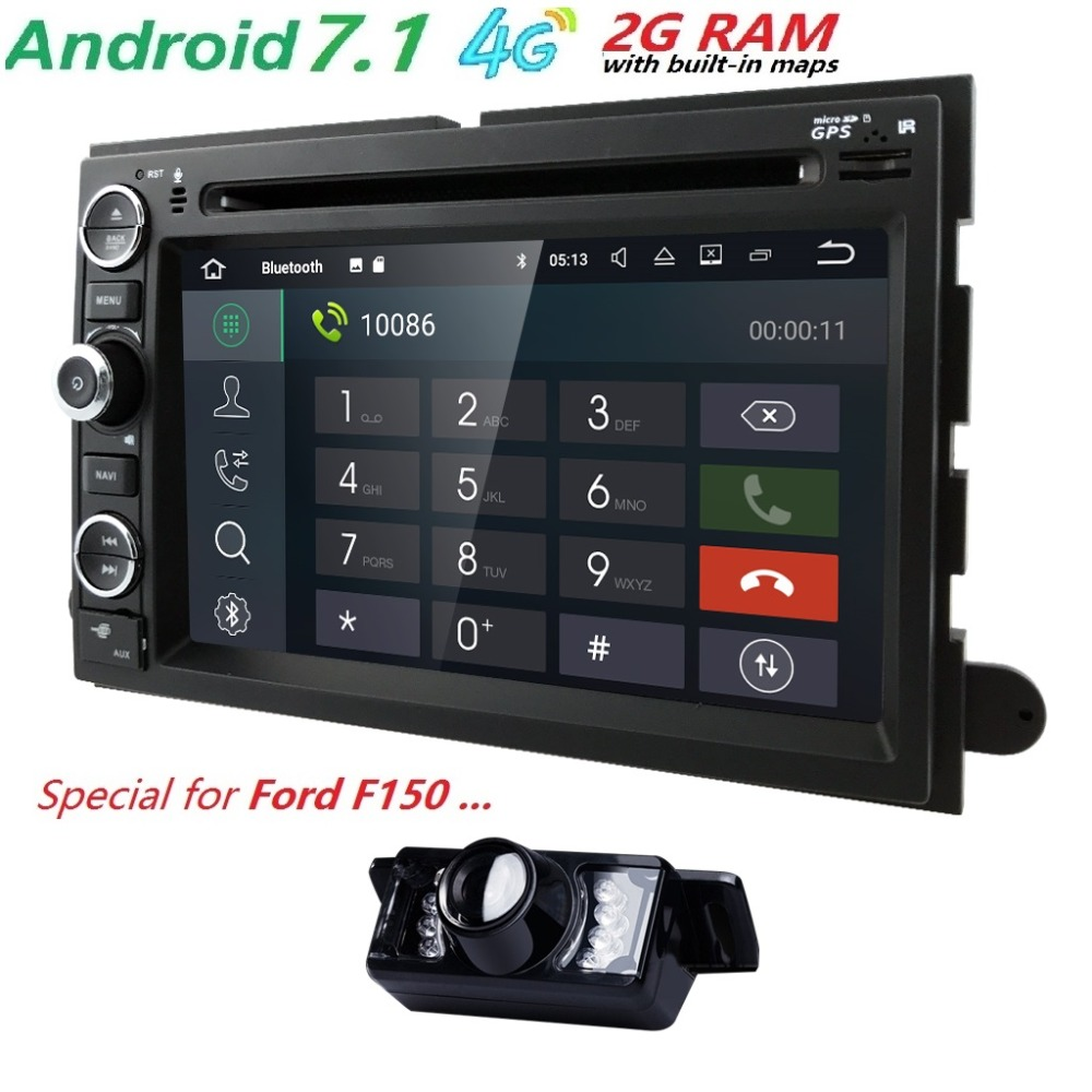 AutoRadio 2 din Android 7.1 lecteur DVD de voiture pour Ford F150 F250 Fusion Mustang Edge Explorer Expedition 2004 2005 2006 2007 2008