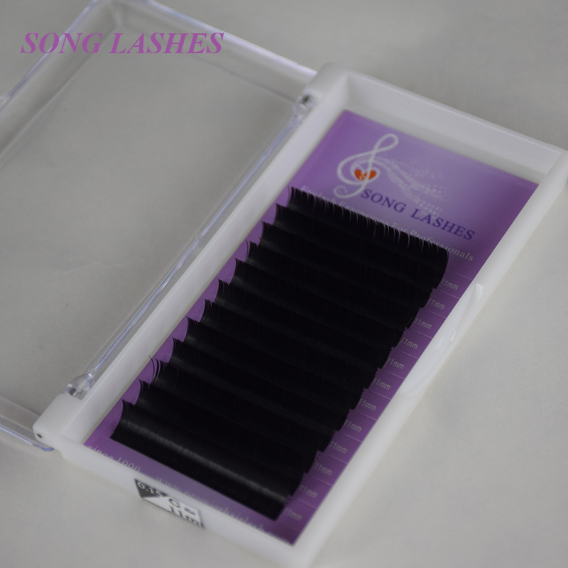 SONG LASHES Ellipse Flat False Eyelash Extensions Soft Thin Tip Flat Roots Nya produkter Spara tid rekommenderad av tekniker