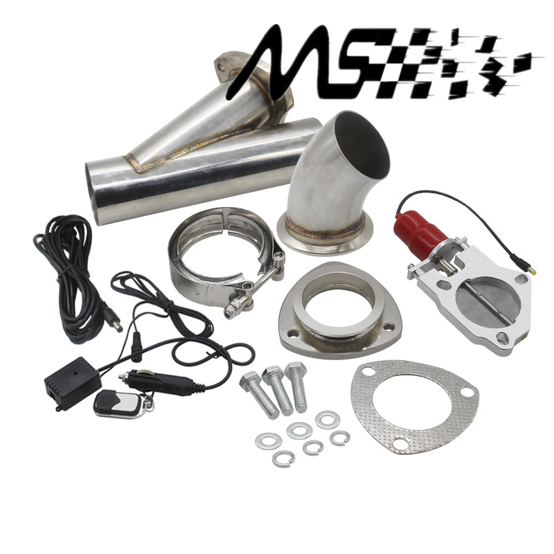 2 5 3 inch Exhaust Control Valve With Remote Control Car Stainless Electric Exhaust Valve Cut