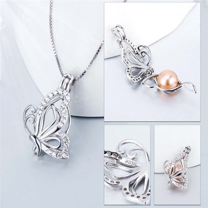 Image 3 - CLUCI 3pcs 925 Sterling Silver Zircon Butterfly Charms Pendant Silver 925 Pendant for Women Mothers Day Gift Jewelry SC359SB