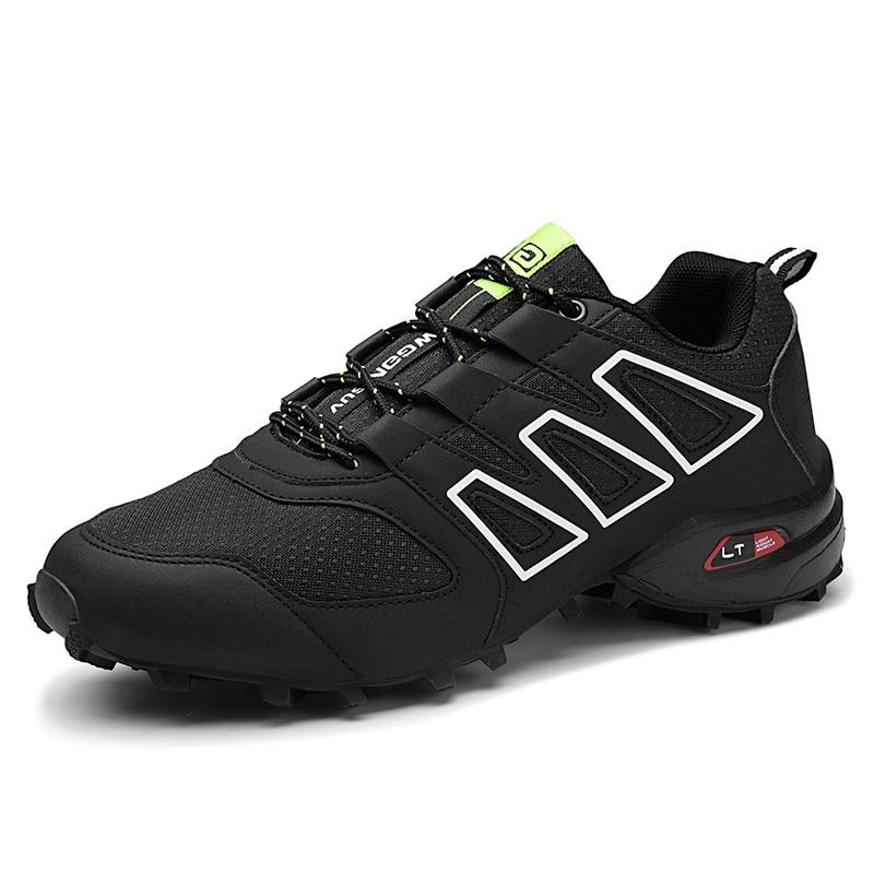 Men's Hiking Shoes Lightweight Outdoor Man Walking Trekking Sneakers Lace Up Comfortable Men Mountain Climbing Shoes Plus Size