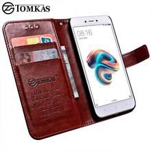 Tomkas Wallet Case Xiaomi Redmi 5A Case Leather PU Luxury Flip Phone Bag Cover For Xiaomi