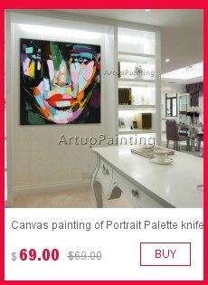Retrato pintura a Óleo Rosto figura lona