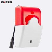 Fuers 433 МГц 315 МГц Беспроводная мигающая сирена для дома подходит для 2G 3G G90B G90B Plus + сигнализация