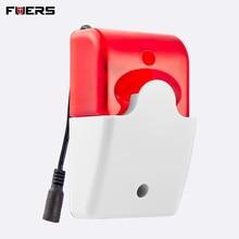 Fuers 433MHz 315MHz alarma intermitente inalámbrica sirena interior adecuado para 2G 3G G90B G90B Plus + sistemas de alarma