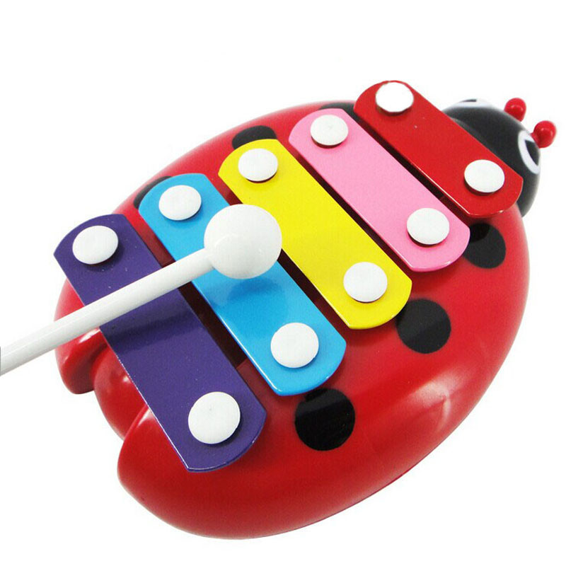Baby Child Kid 5-Note Xylophone Musical Toys Wisdom Development Beetle High Quality