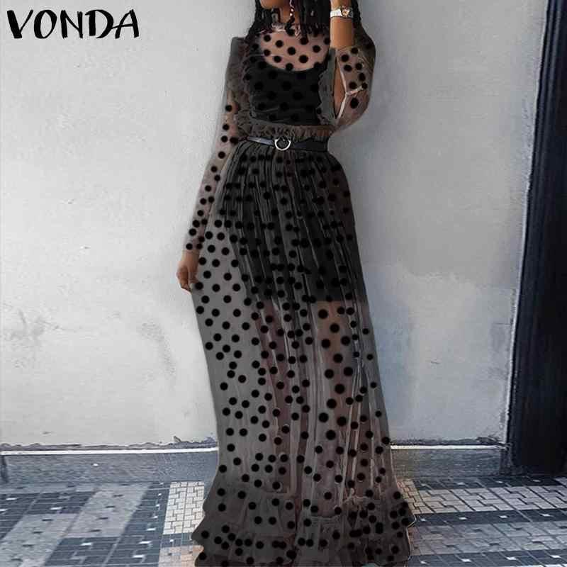 VIVO Ngày Lễ Ren Đầm Bohemian Nữ Rỗng Tầng-Chiều Dài ĐẦM MÙA HÈ Vintage Chấm Bi In Hình Đầm Vestido Đảng Áo Dây Femme Plus kích thước