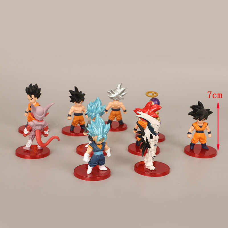 21 estilo dragão bola z super saiyan filho goku gohan vegeto syn shenron freeza janemba mini figuras pvc brinquedos