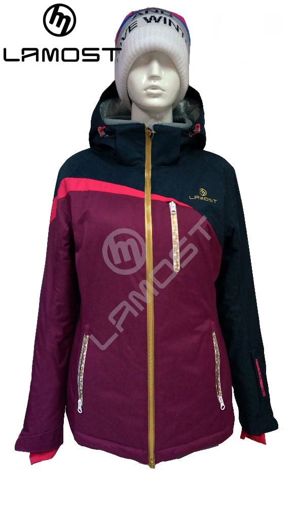 Prix pour LAMOST Marque fabrication professionnelle de haute qualité, coupe-vent et Imperméable À L'eau D'hiver Veste de ski suitg femmes neige vêtements
