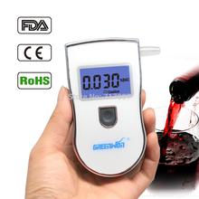 HOT Selling +10 Mouthpiece New Arrival Popular Patent Right Alcohol Tester Breathalyzer With High Precision Car Detector Gadget