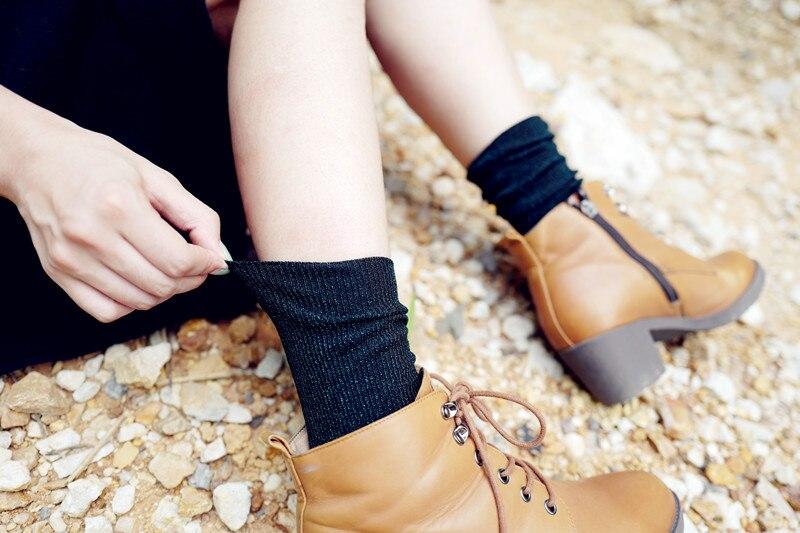 high quality fashion shining socks warm autumn winter thickened knitted  thermal women brand long harajuku boot socks christmas-in Socks from  Underwear ... 632e39c765b4