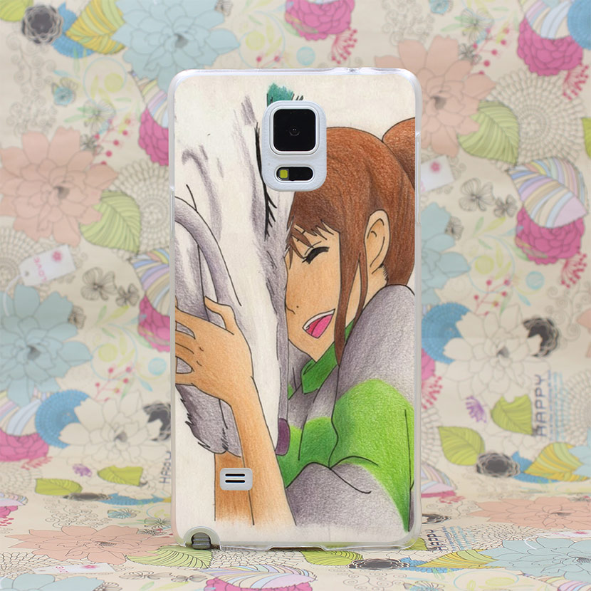 936HJ SPIRITED AWAY ANIME SEN TO CHIHIRO Hard Transparent Case Cover for Galaxy A3 A5 7 8 J5 7 Note 2 3 4 5 & Grand 2 Prime