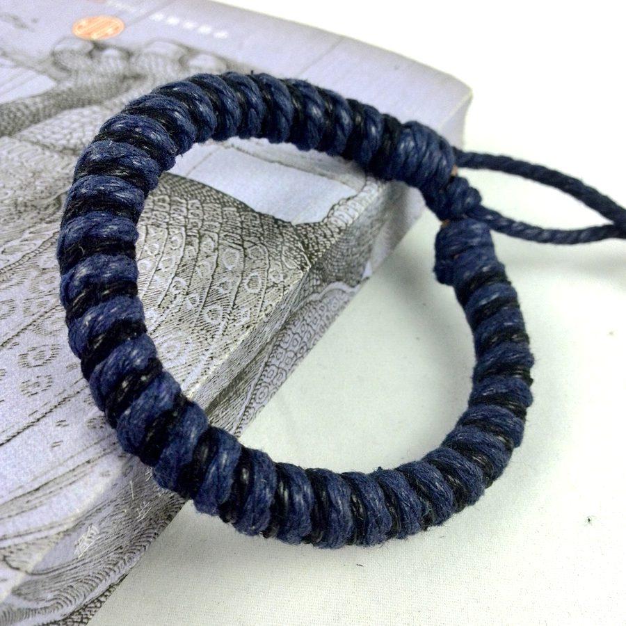 2017 New Hot Fashion Handmade Vintage Simple Unique Hemp String Weave  Bracelet Bangle Cuff Wrap Charm
