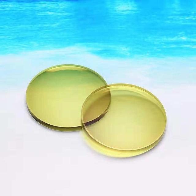 1.56ไดร์เวอร์แว่นตาสีเหลืองLensPhotochromic Anti Blue Lightสายตาสั้นสายตาเอียงออพติคอลเรซิ่นเลนส์Night Vision