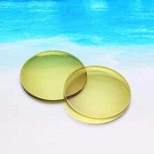 1.56 sürücü sarı gözlük LensPhotochromic Anti mavi ışık miyopi astigmatizma optik reçete reçine Lens gece görüş