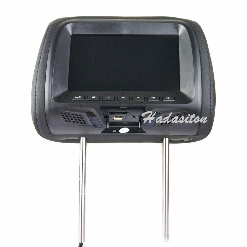 """Универсальный """" сенсорный экран автомобильный подголовник монитор MP5 плеер Подушка монитор Поддержка AV/USB/SD вход/FM/динамик/наушники/Bluetooth - Цвет: Black without zipper"""