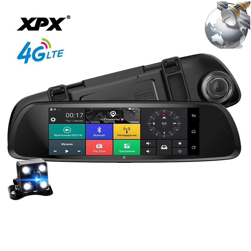 Dash cam XPX ZX868 Car dvr 3 in 1 Radar GPS Dvr Rear view camera Car DVR mirror Camera car Full HD 1080P G-srnsor Car camera цена 2017