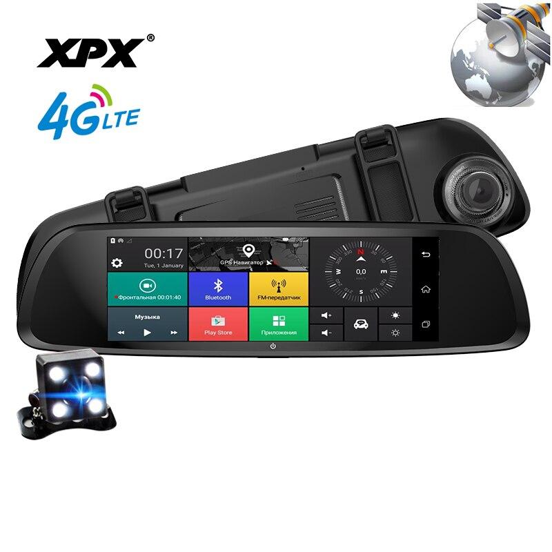 Dash cam XPX ZX868 Voiture dvr 3 dans 1 Radar GPS Dvr Arrière vue caméra De Voiture DVR miroir Caméra de voiture full HD 1080 p G-srnsor Voiture caméra