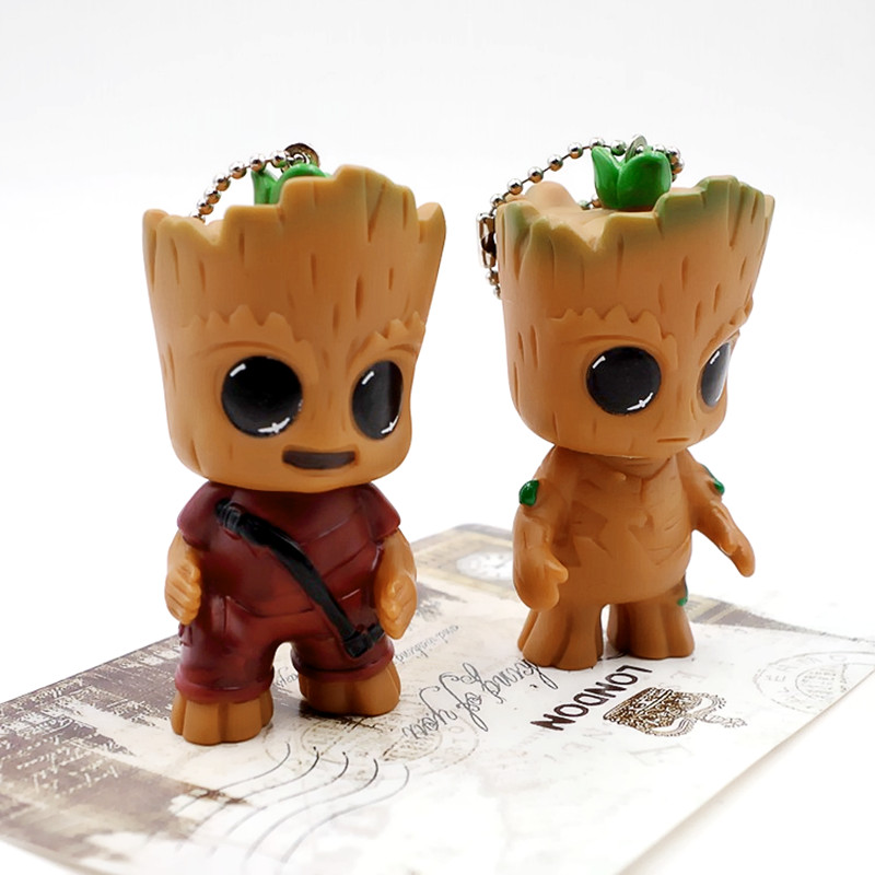 Guardians of the Galaxy 2 Tree man Toddler Toy Bobble Action Figure Key Ring Pendant PVC Marvel Movie Hero Model Doll Toy XD118