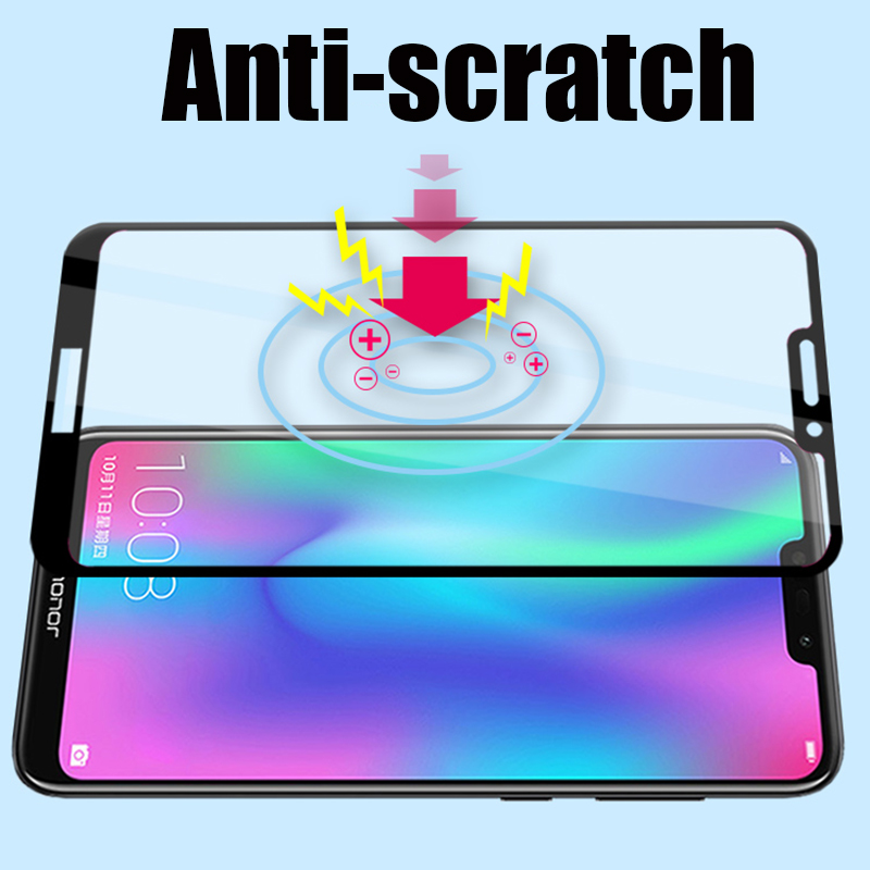 Image 4 - Protective Glass honor 8c 8 lite 8a 8s screen protector on for huawei 8lite Glass honor 8 light 8s 8c tempered film honer huawey-in Phone Screen Protectors from Cellphones & Telecommunications