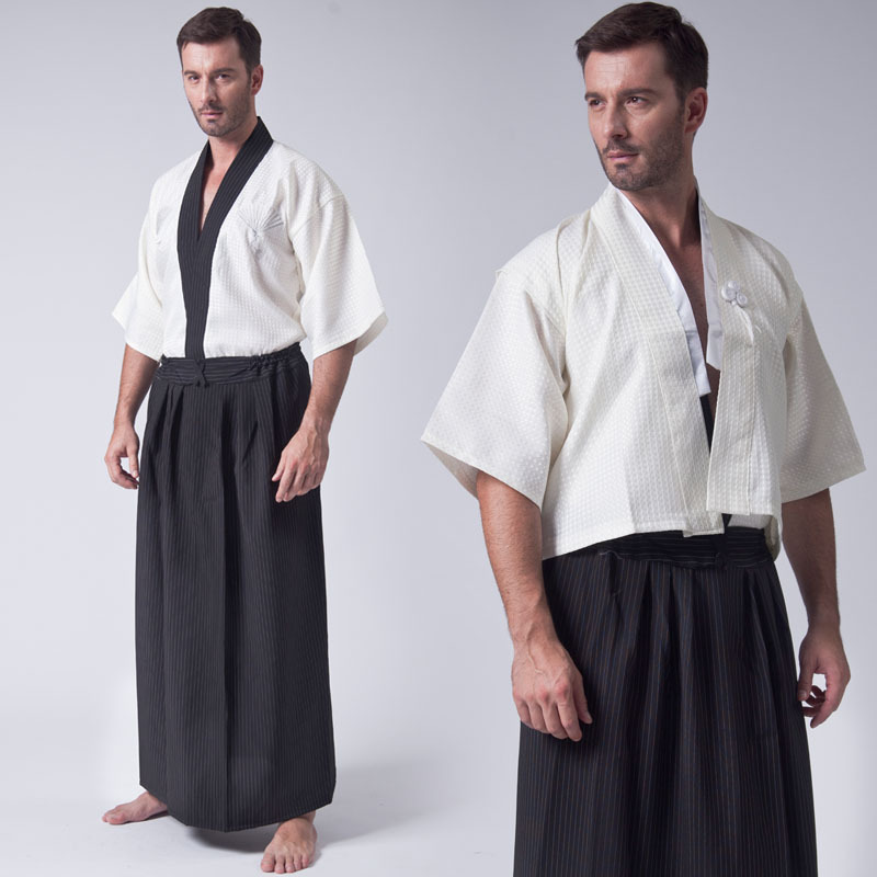 Wushu Uniforms Japanese Traditional Samurai Clothing Loose Ninja Gongfu Cosplay Costume Hakama Jiu Jitsu