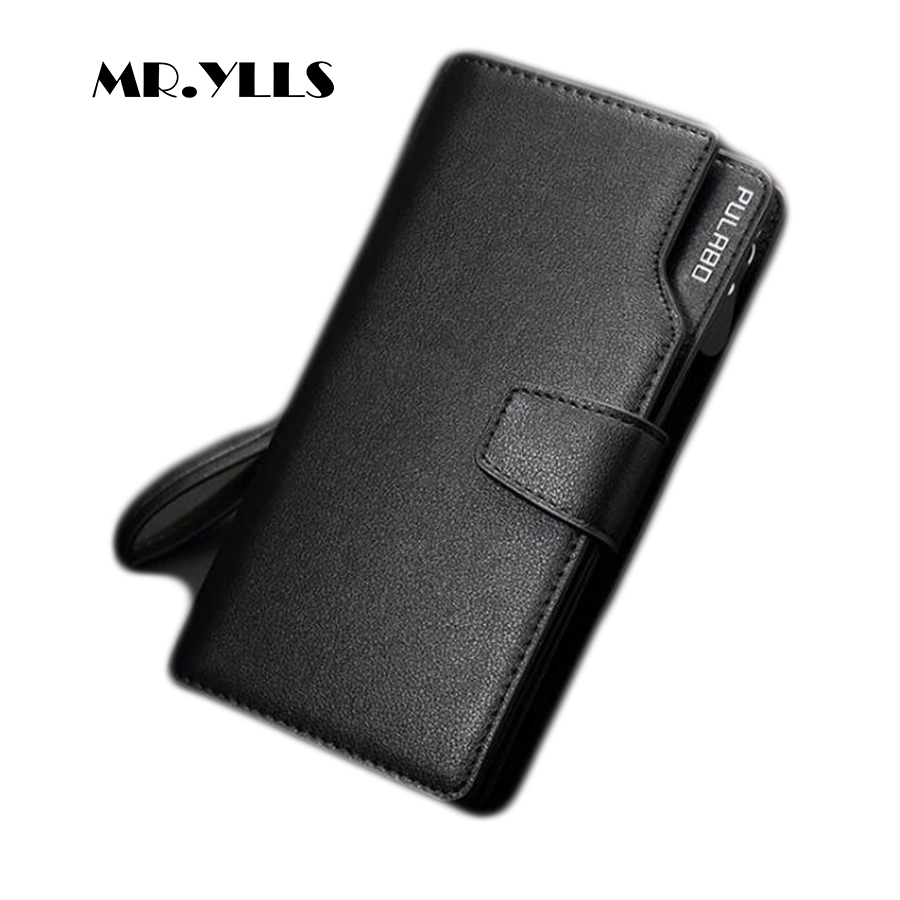 MR.YLLS Business Men Wallet Brand Card Holder Fashion Wallets PU Leather High Capacity Purses Clutch Male Long Card Bit More New