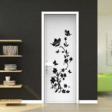 Butterflies wall sticker flower for kids rooms 6 colors refrigerator art