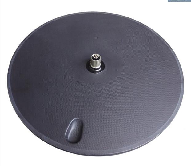 Livraison gratuite roue de fiber de Carbone, route disque de roue, vélo Vélo roue de Piste, 700C disque roue 3 k mat enclume tubulaire jantes