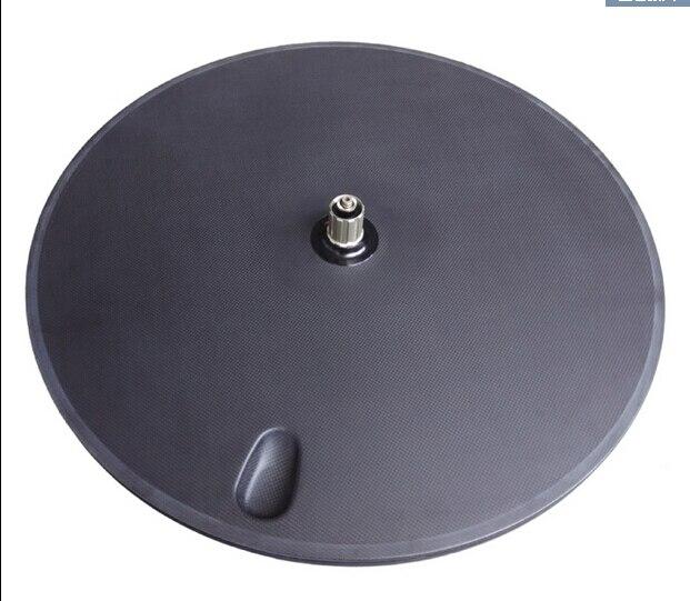 free shipping Carbon fiber wheel, road disc wheel, bicycle Cycling Track wheel, 700C disc wheel 3K matte clincher tubular rims wheel