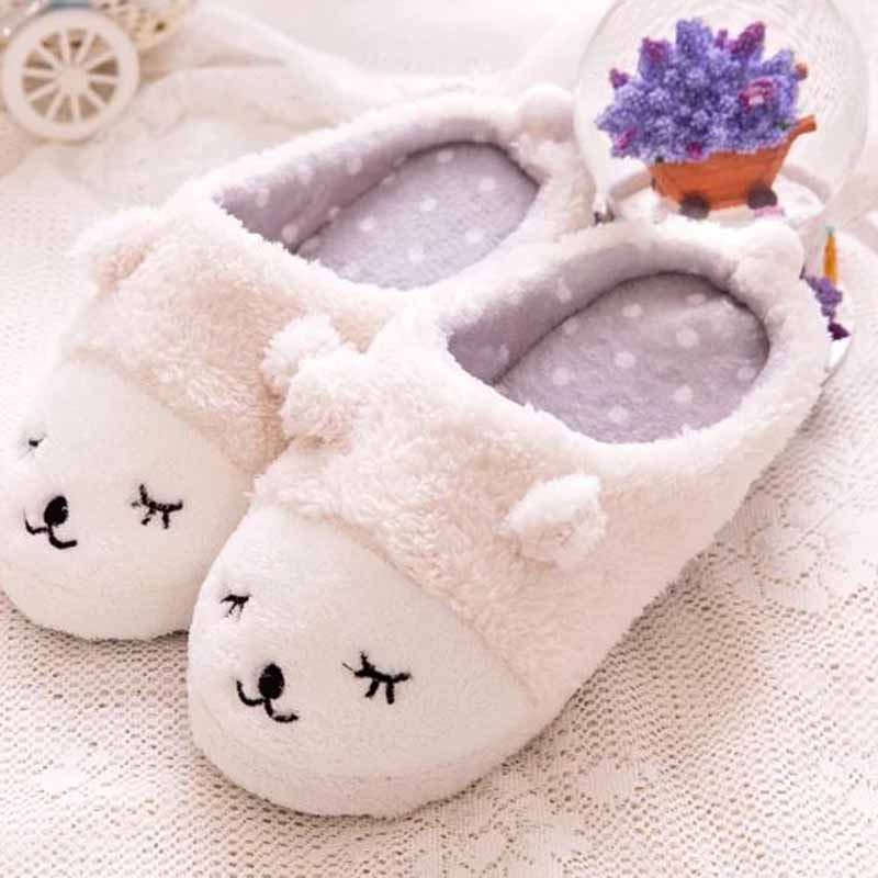 free shipping Winter Warm Indoor Slippers Cute Cartoon sheep for ...