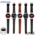 Para samsung gear s2 smart watch band accesorios reloj de 20mm correa de piel genuina calidad r720 con adaptador