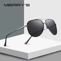 MERRY'S DESIGN Men Pilot Sunglasses HD Polarized Sunlasses For Men UV400 Protection S'8123